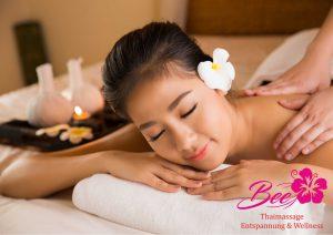 Asian woman having massage